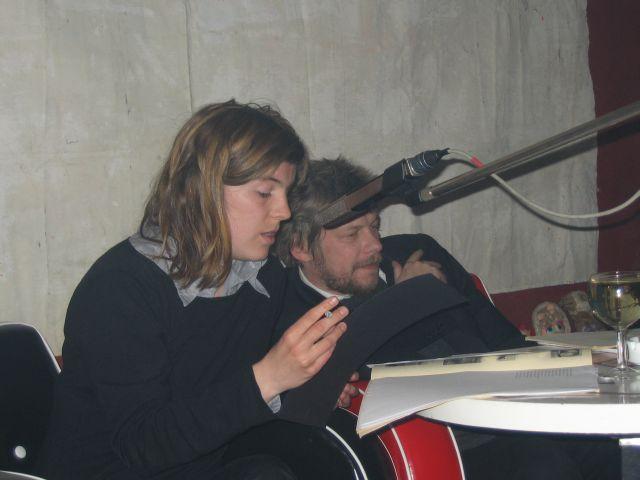 Ann Cotten und Johannes Jansen